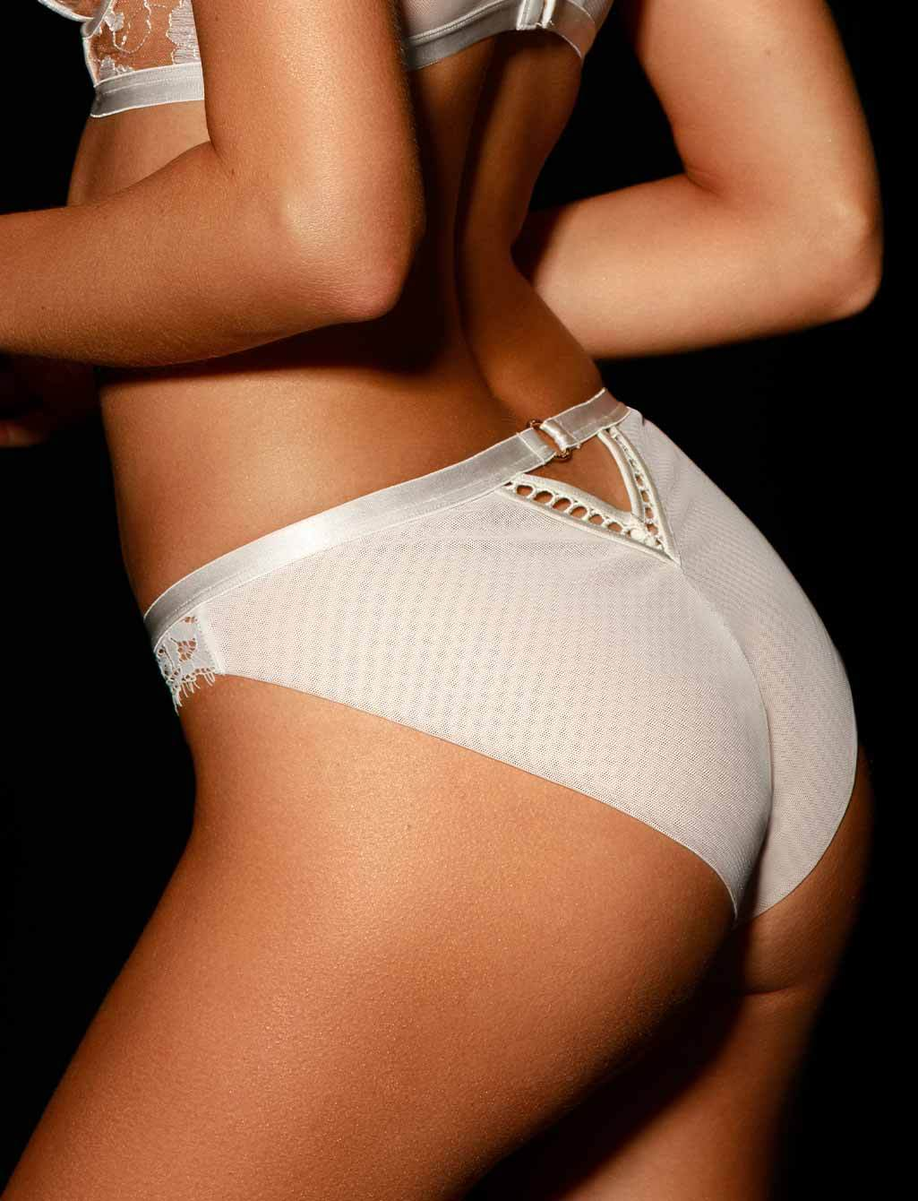 Molly Lace White Ivory Bridal Brief | Shop  Lingerie Honey Birdette