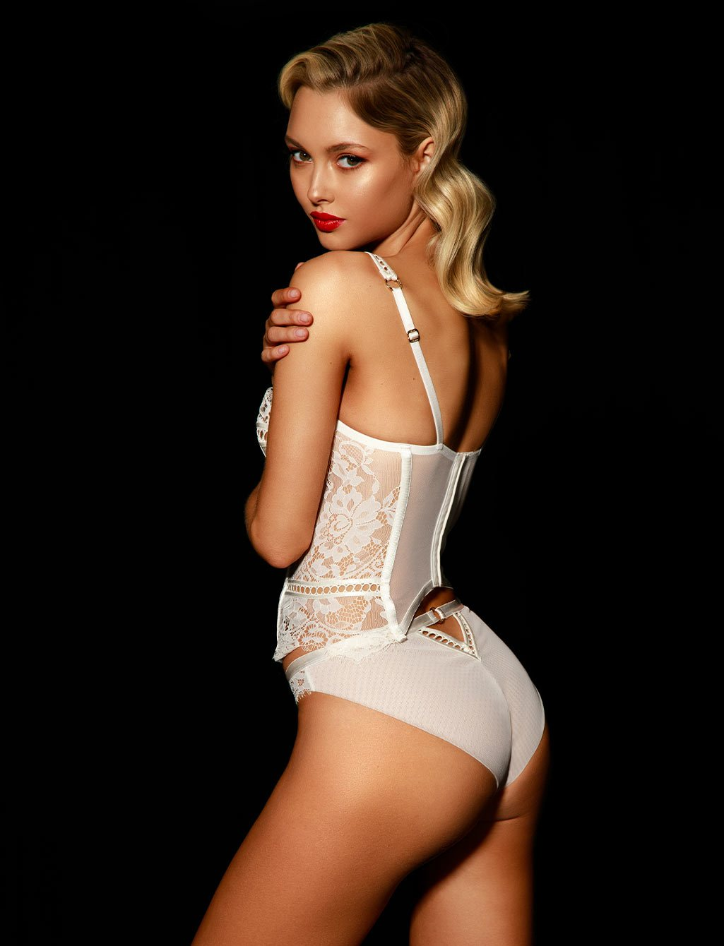 Molly Lace White Ivory Bridal Underwire Bustier | Shop  Lingerie Honey Birdette