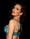 Natalie Teal Bra & Brief Set - Shop Lingerie Set | Honey Birdette UK