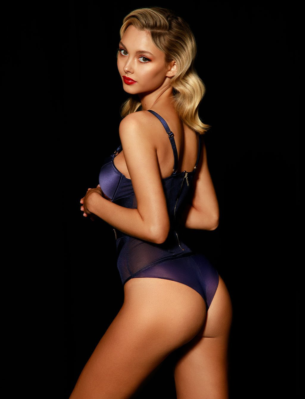 Elvis Navy Bodysuit - Shop Lingerie | Honey Birdette