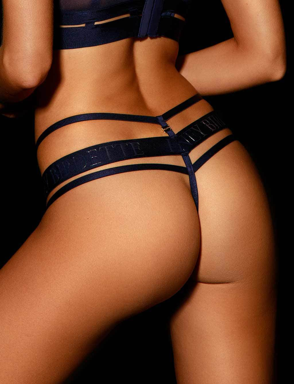 Elvis Navy Thong - Shop  Lingerie | Honey Birdette