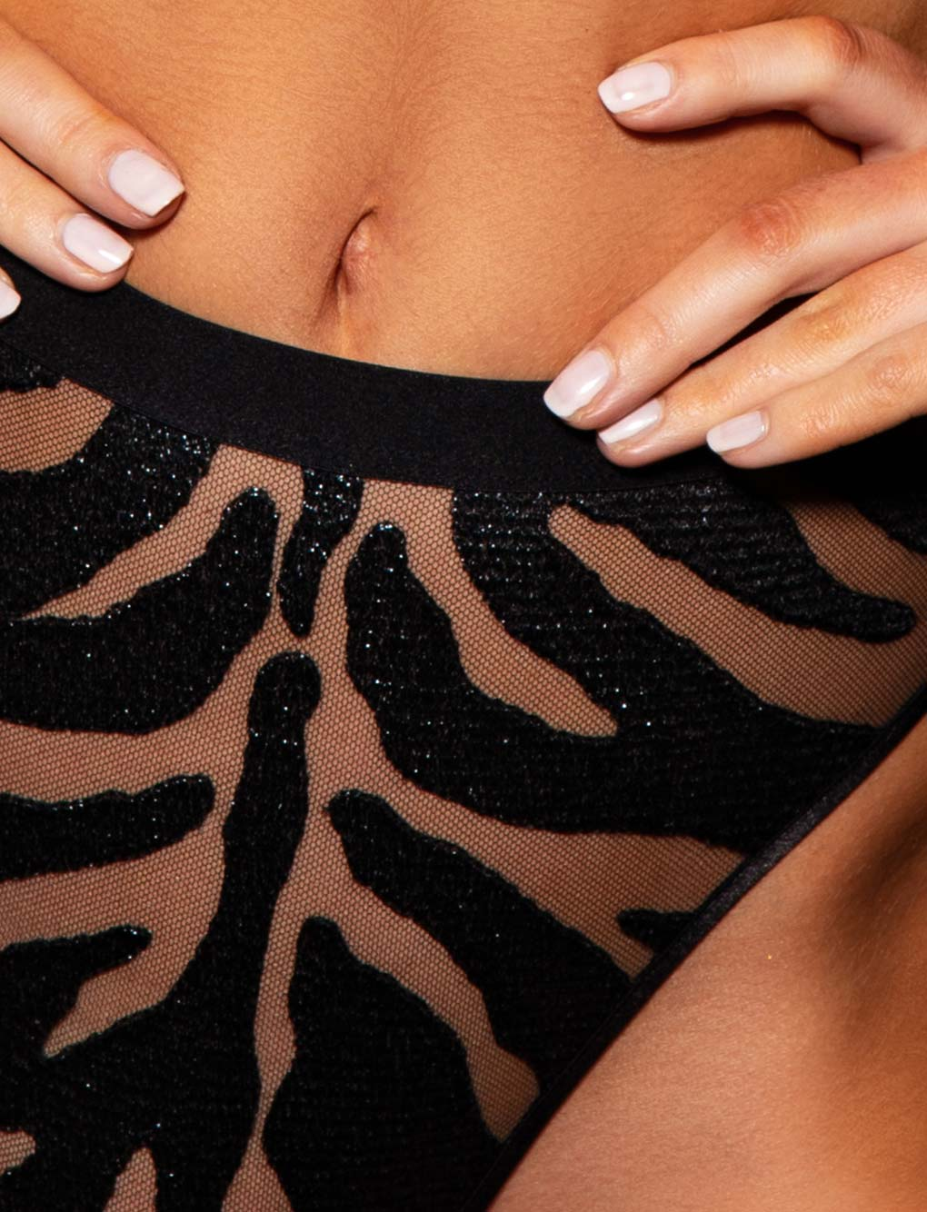 Prudence Zebra Print Brief