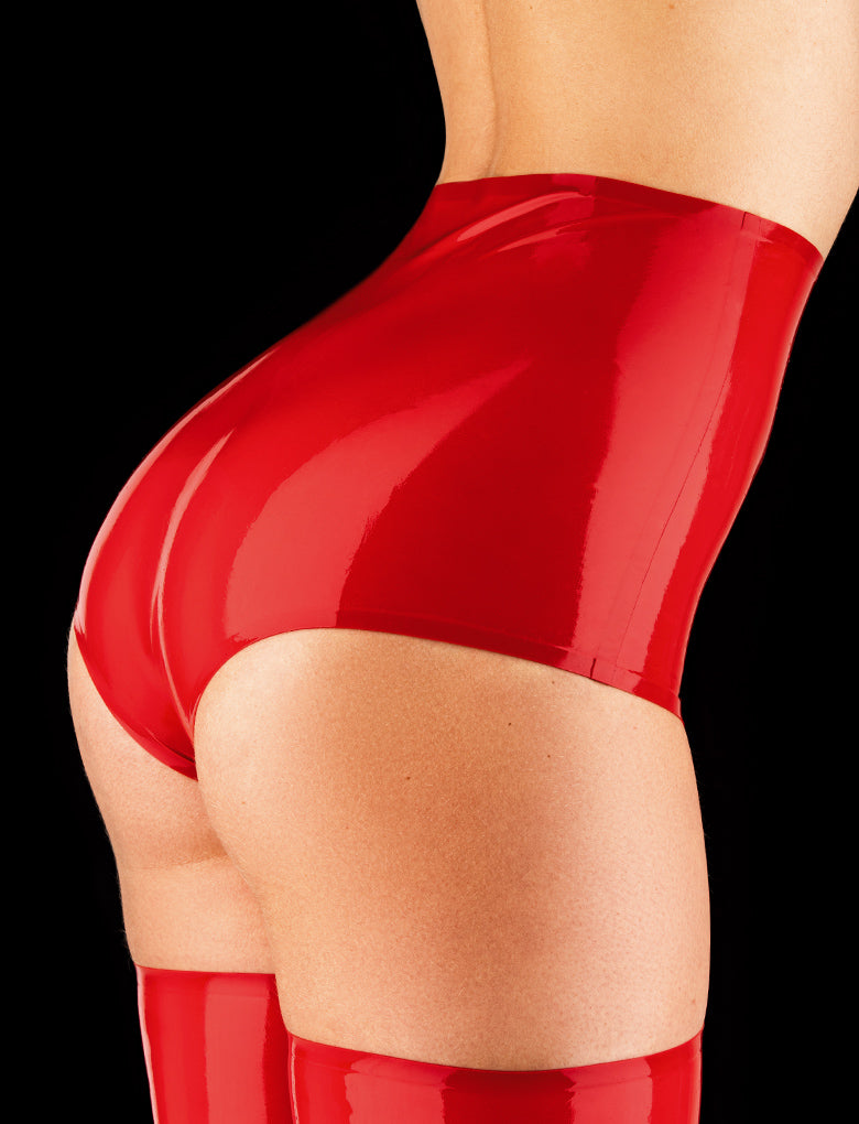 Latex Red Hotpant