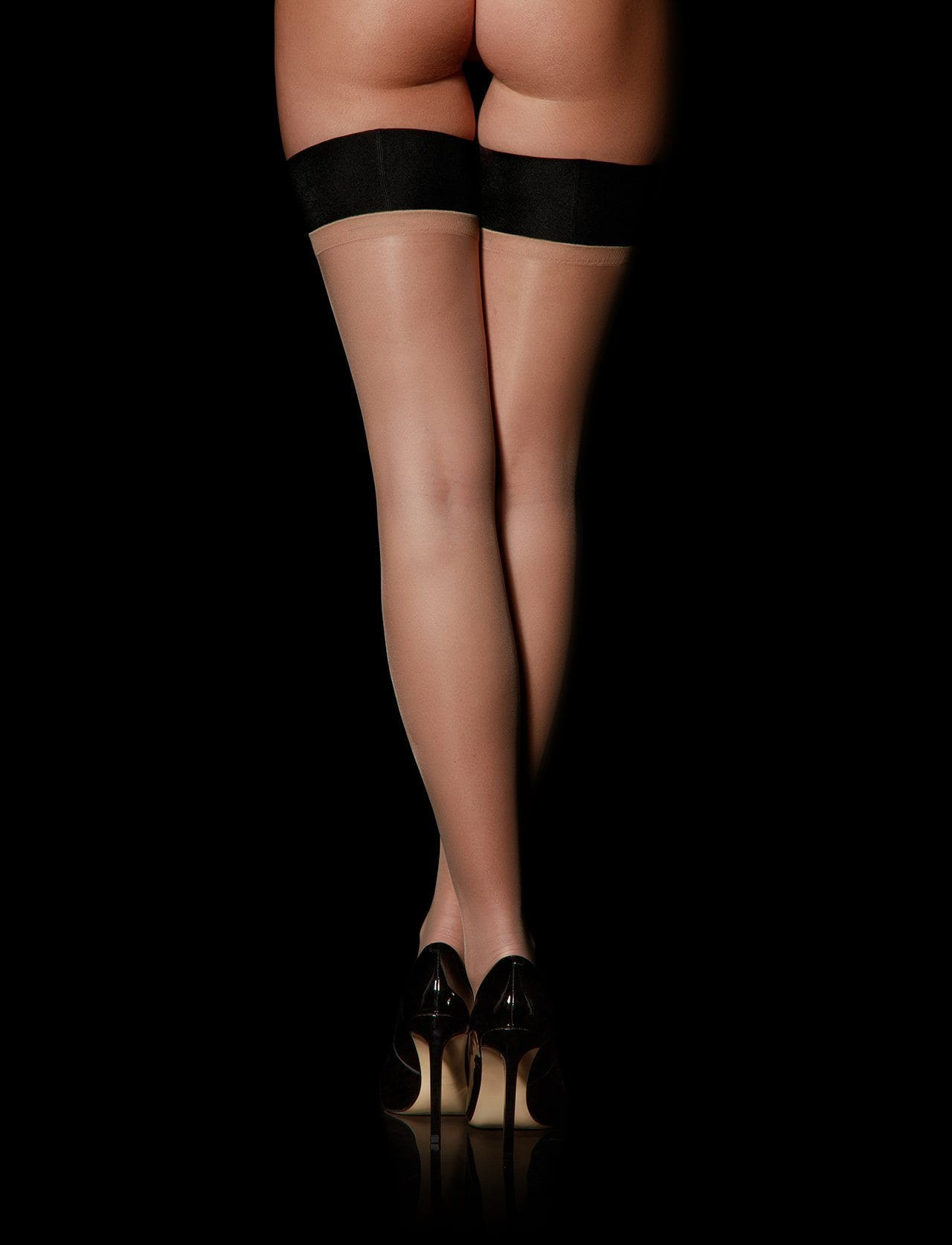 Sheers Black Stay Up Stockings - Shop Hosiery | Honey Birdette UK