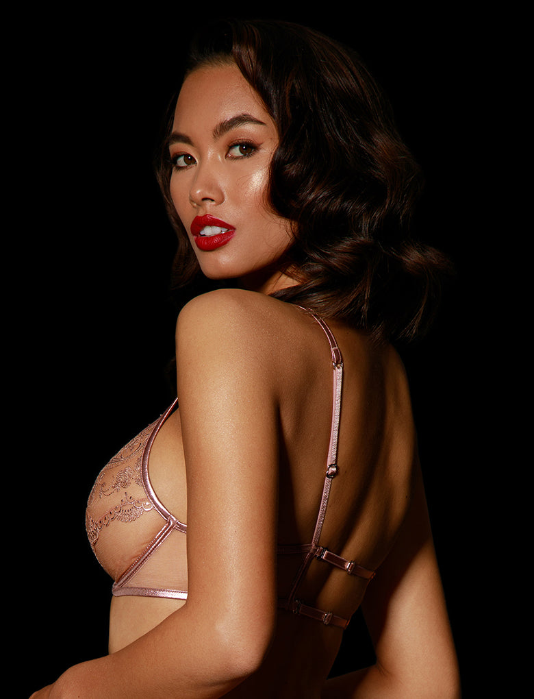 Zoe Bra Rose Gold