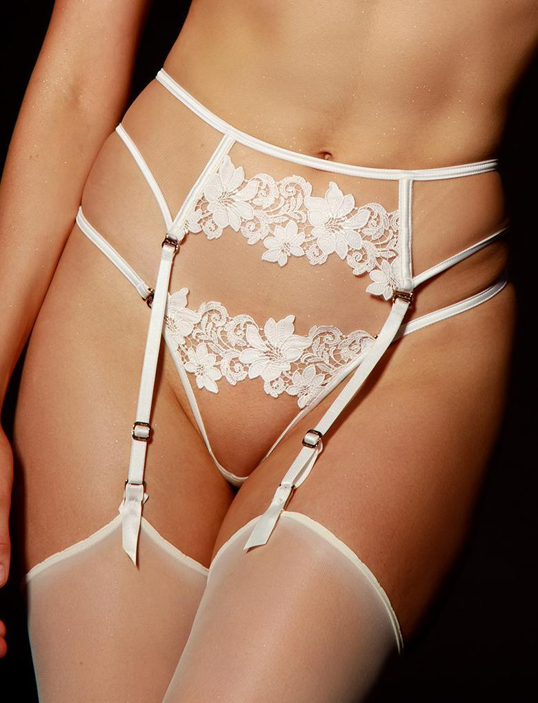 Amelie Ivory Suspender - Shop Suspender | Honey Birdette UK