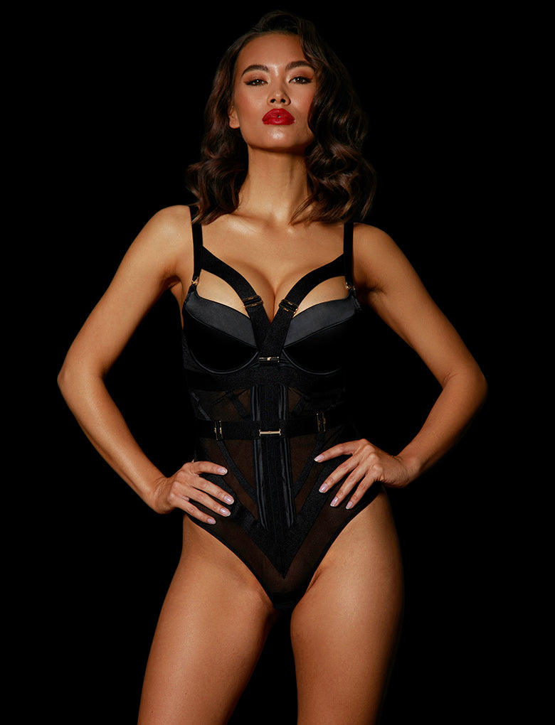 Elvis Playsuit Black