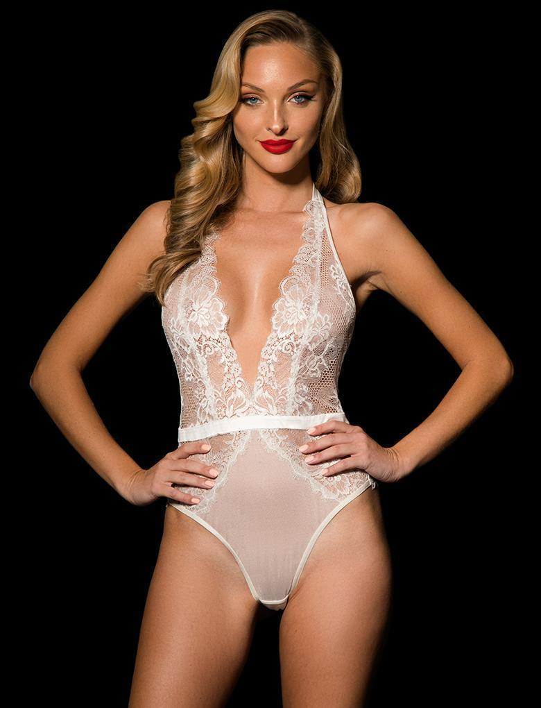 Chloe Ivory Bodysuit - Shop Bodysuit | Honey Birdette UK