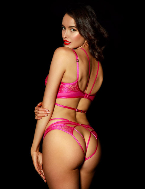 Vanessa Pink Brief | Shop Lace Briefs & Hotpants | Honey Birdette