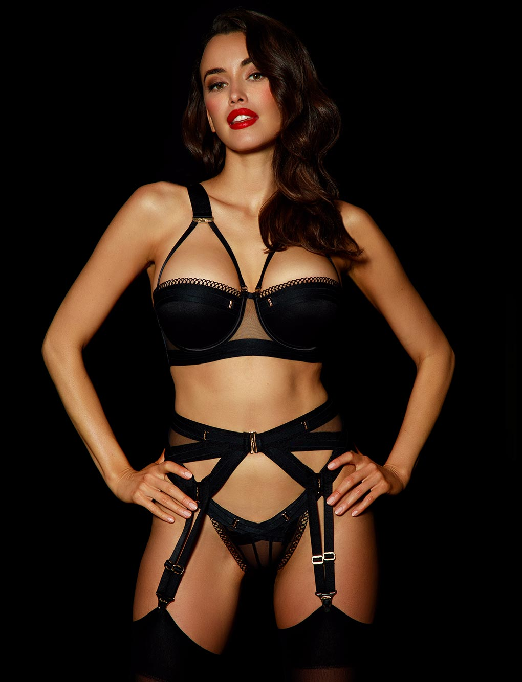 Vienna Belt Suspender - Shop Lingerie | Honey Birdette