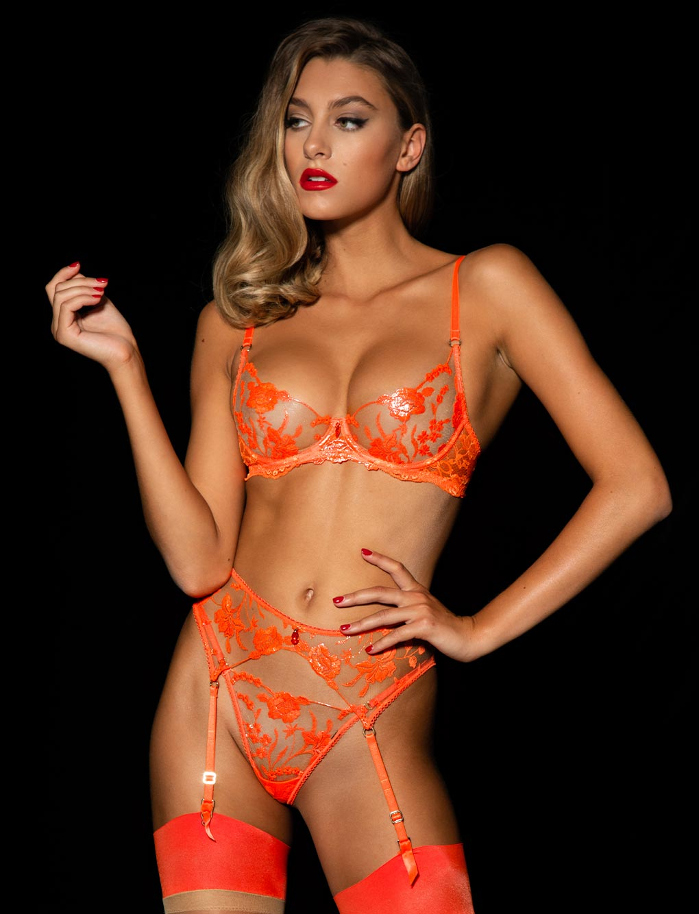 Whitney Orange 3 Piece Set