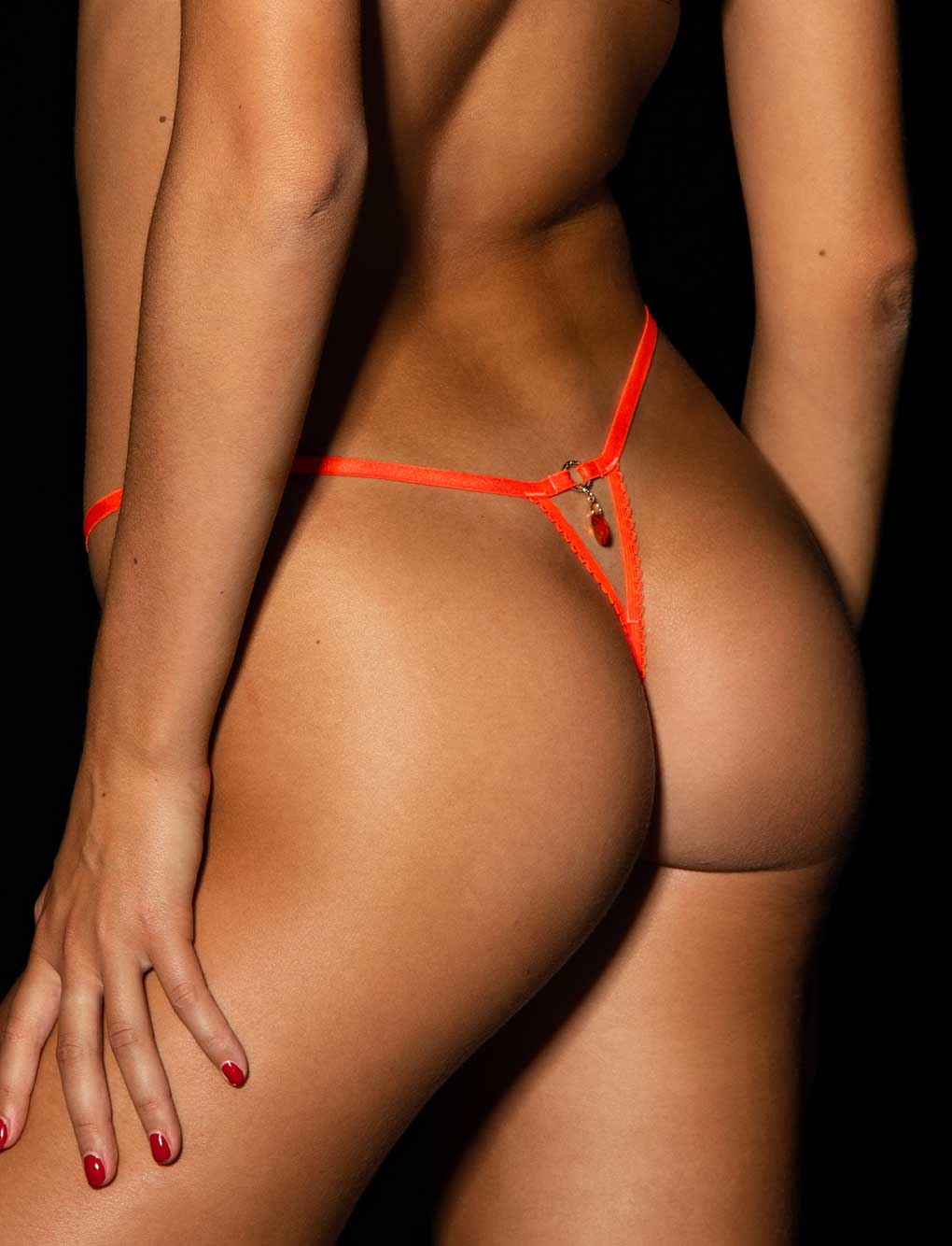 Whitney Orange Thong
