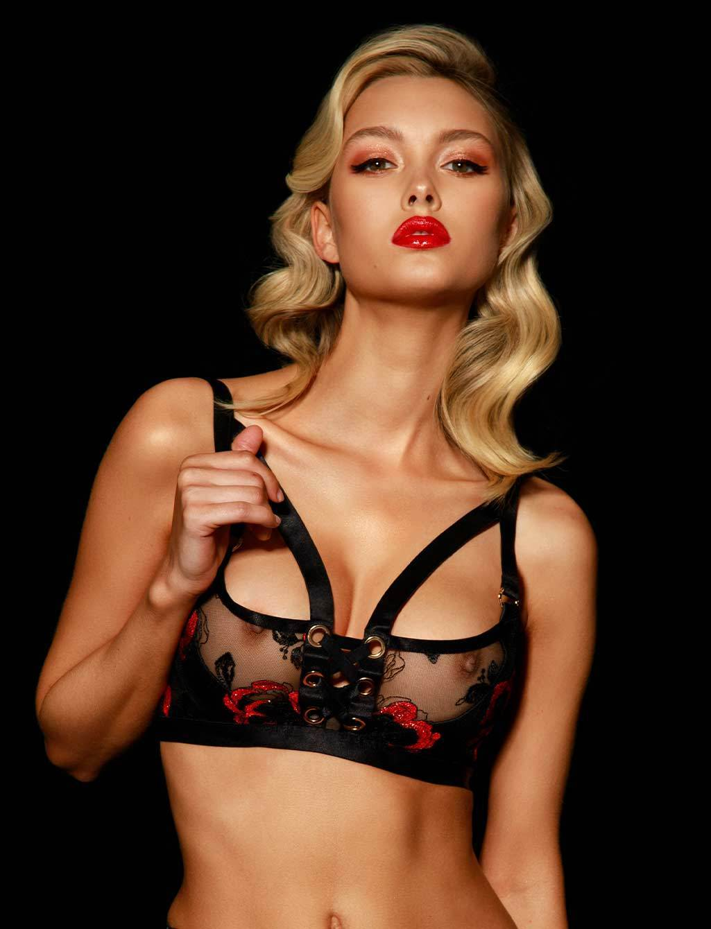 Freyah Lace Up Underwire Bra - Shop Bras | Honey Birdette