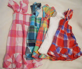 Woven Shirts Smocked Plaid Tank Top Children Kid