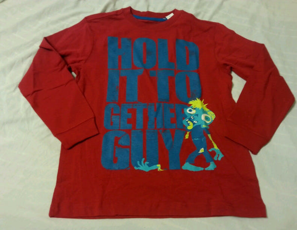 Old Navy Boys Tee Shirt Sz XS 5 Hold it together guy Long Sleeve