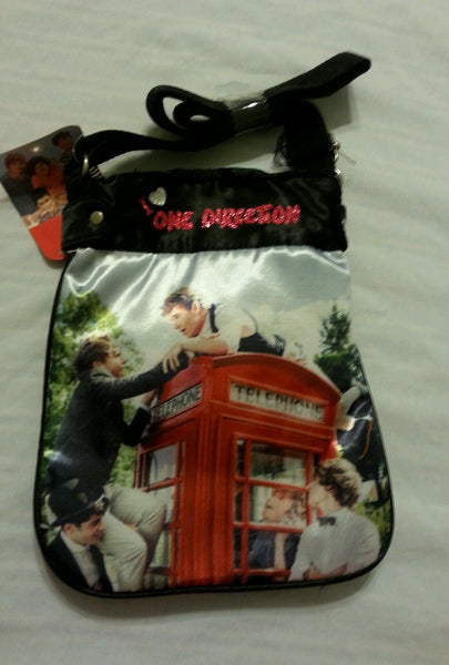 One Direction Girls Purse Cross Body Tote Bag Handbag black 1D