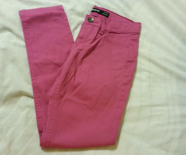 Jordache Girls Jeans Pants Sz 8 Super Skinny Adjustable Waist Fuchsia Kids