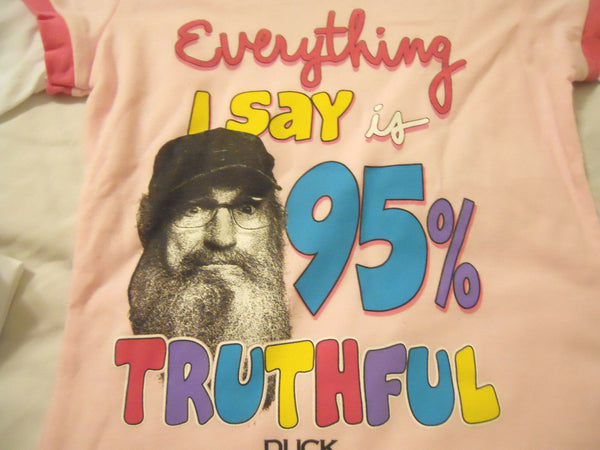 Duck Dynasty Tee Shirt Girl XL 14-16 Light Pink