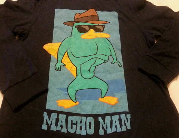 Boys Tee Shirt Sz XS 5 Old Navy Collectabilitees Blue Macho Man