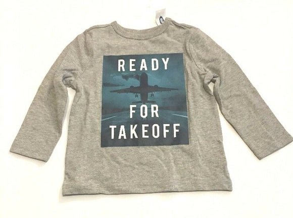 Old Navy Gray Tee Shirt Boys Size 2T Ready For Take Off