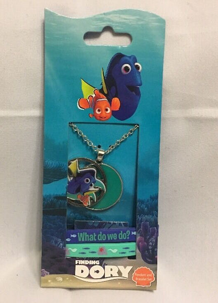 Finding Dory Pendant And Bracelet Set Kids Girl Jewelry