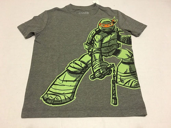 Old Navy Boys Tee Shirt Small 6-7 Ninja Turtle Gray