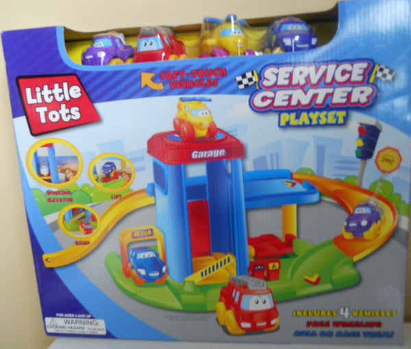 Boys Toy Cars PlaySet Little Tots Service Center Kids 3+