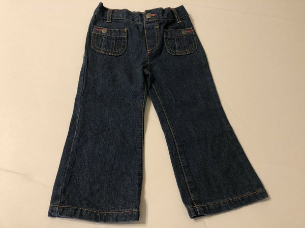Infants Girls Fashion Jeans 12 months Blue Wash Baby Kids Pants Bottoms
