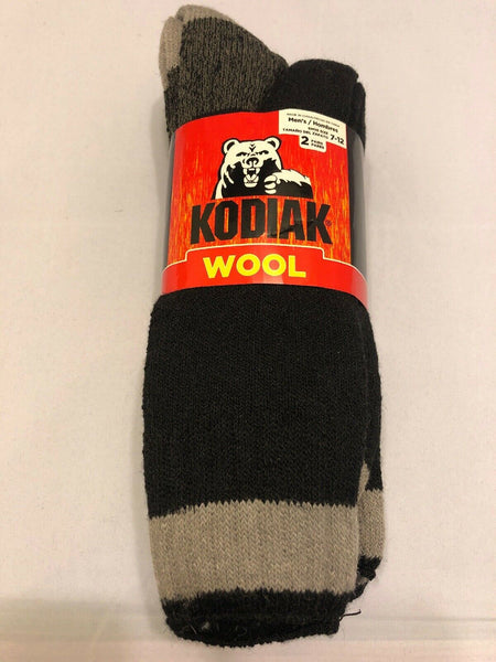 Wool Socks Shoe Size 7-12 Men 2-Pair