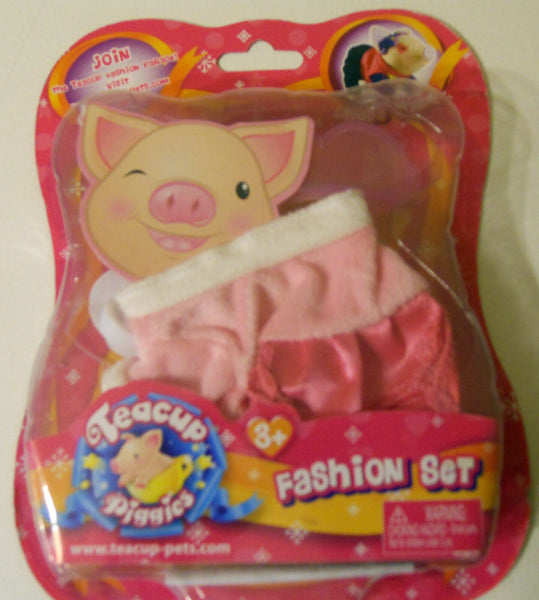 Pig Teacup Piggies Fashion Outfit Set Clothes Pink