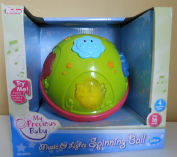 Educational Toy My Precious Baby Music & Lights Spinning Ball Infant