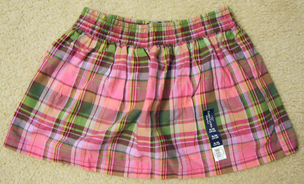 Girl Skirt Skort Size 4-5,6-6X,7-8,10-12,14-16 Berry Glow Plaid Faded Glory