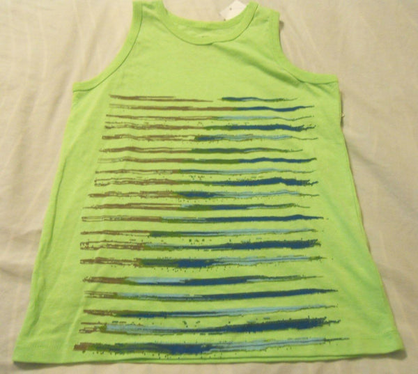 Tank Top Shirts Boys Medium Green Ocean Current