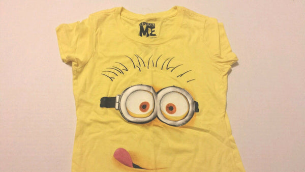 Despicable Me Girls Tee Shirt Sz S 6-6X Yellow Kids New