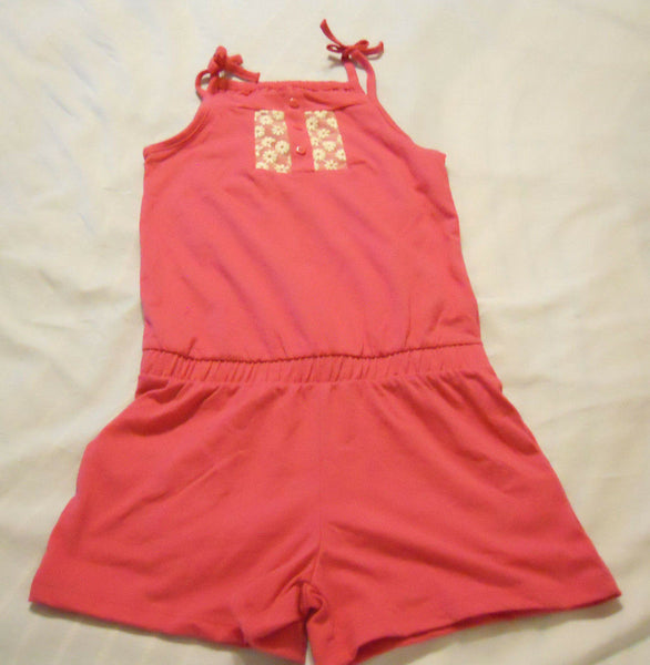 Girls Knit Romper Jumpsuit Shorts Small 6-6X One Piece