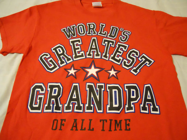 Men's Tee Shirt Medium 38/40 Red World's Greatest Grandpa Of All Time