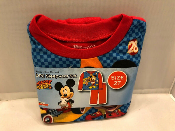 Baby Boys Sleepwear Pajama Set Mickey Mouse Flannel