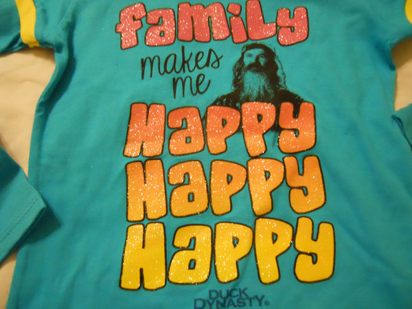 Duck Dynasty Tee Shirt Girls Medium 7-8 Turquoise