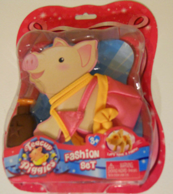 NEW Pig Teacup Piggies Fashion Outfit Set Pink Yellow Clothes