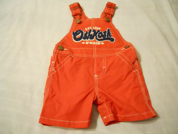 Osh Kosh Bibs Boys Size 9 Months Red Overall Infant Baby