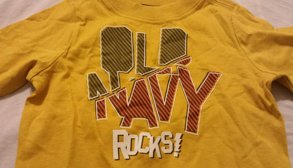 Old Navy Boys Tee Shirt Size 6-12 Months Baby Infants Yellow