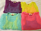 2-Piece Girls Sweater Shirts Tank Top XS S M L XL Children