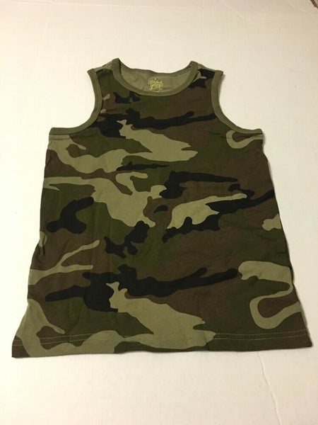 Boys Tank Top Shirt Uniform Green Camo