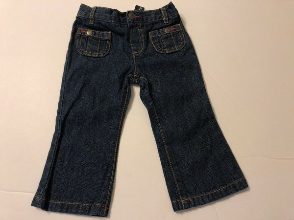 Infants Girls Fashion Jeans 18 months Blue Wash Baby Kids Pants Bottoms