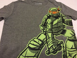 Old Navy Boys Tee Shirt L 10-12 Ninja Turtle Gray