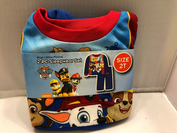 Baby Boys Sleepwear Set Toddlers Paw Patrol Flannel Pajamas Size 2T