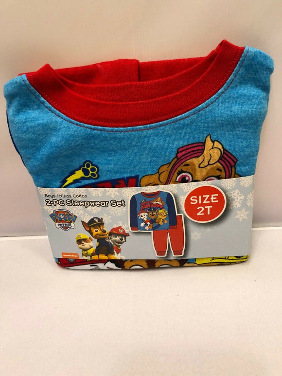 Baby Toddlers Boys Sleepwear Cotton Pajama Set Paw Patrol Size 2T