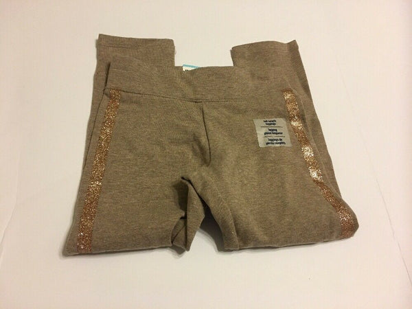 Old Navy Leggings Full Length Kid Girls Size XS 5 Glitter Brown