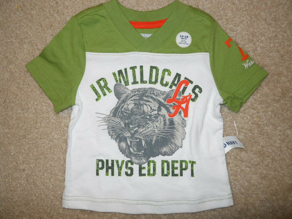 Old Navy Baby Boys Tee Shirt Sz 12-18 Months Jr Wild Cats LA White Green Kids