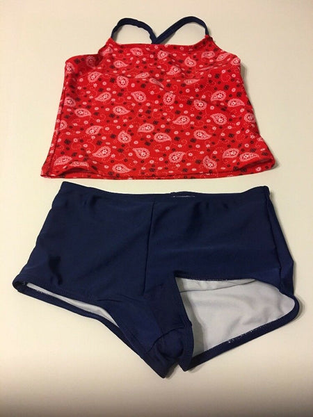 Op Swimsuit Tankini Kids Swimwear Size L 10-12 UPF 50+